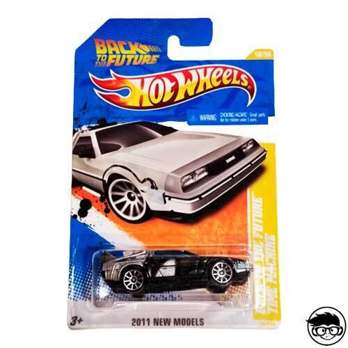 Hot Wheels Back to the Future Time Machine 2011 HW Premiere 18/244 2011 long card (Error)