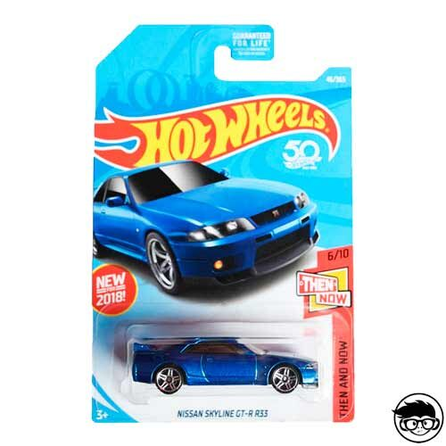 Hot Wheels Nissan Skyline GT-R R33 Then And Now 46/365 2018 long card