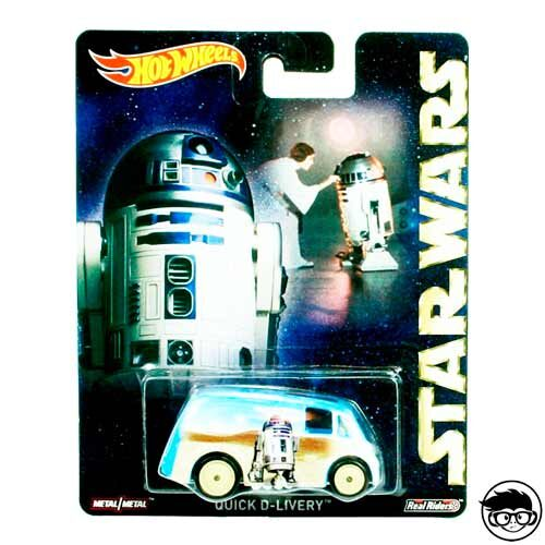 Hot Wheels Quick D-Livery Star Wars Real Riders 2016 long card