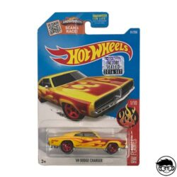 Hot-Wheels-69-Dodge-Charger-91/250-Hw-Flames-1/10-Factory-Sealed-2016