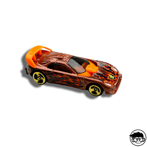 Hot Wheels Callaway C7 Flaming Hot Wheels 061 2003 long card
