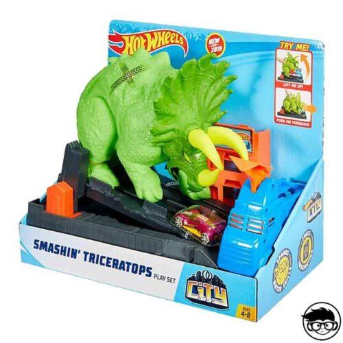 Hot Wheels Track Smashin' Triceratops GBF97 2019