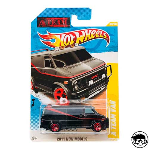Hot Wheels A-Team Van GMC Custom 2011 long card