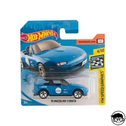 Hot Wheels '91 Mazda MX 5 Miata HW Speed Graphics 184/250 2019 short card