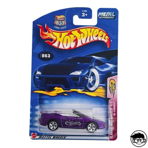 Hot Wheels '95 Camaro Flamin' 4/5 2003 long card