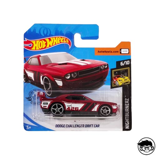 Hot Wheels Dodge Challenger Drift Car Nightburnerz 179/250 2019 short card
