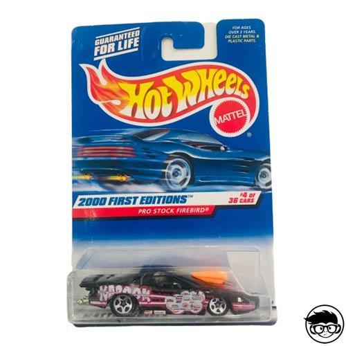 Hot Wheels Pro Stock Firebird 2000 First Editions #4 of 36 cars 2000 long card