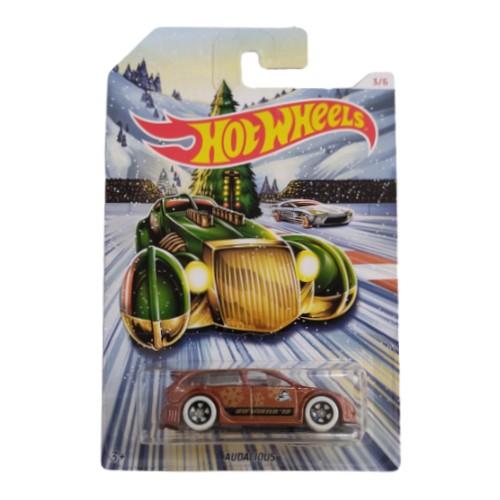 Hot Wheels Audacious 2019 Holiday Hot Rods 3/6 long card