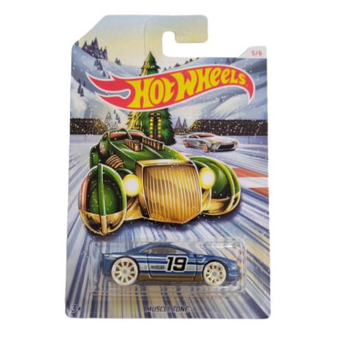 Hot Wheels Muscle Tone 2019 Holiday Hot Rods 5/6 long card
