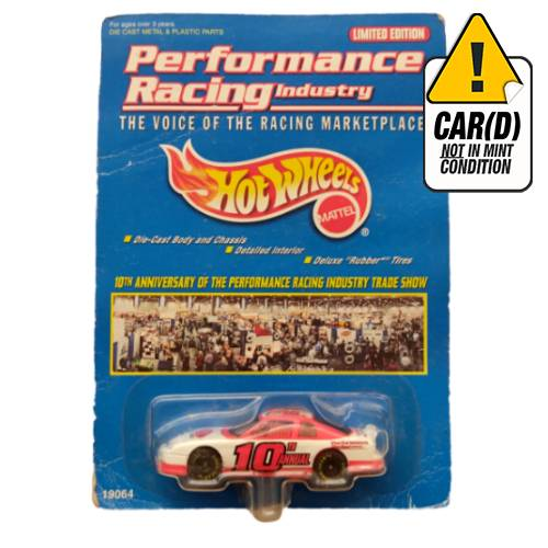 Hot Wheels Performance racing industry 10TH 1998 long card*