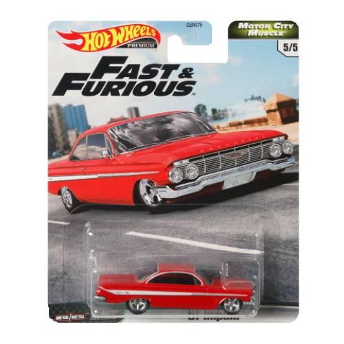 Hot Wheels ´61 Chevy Impala Fast & Furious MCM 5/5 2020 long card