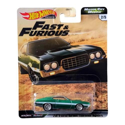 Hot Wheels ´72 Ford Gran Torino Fast & Furious MCM 2/5 2020 long card