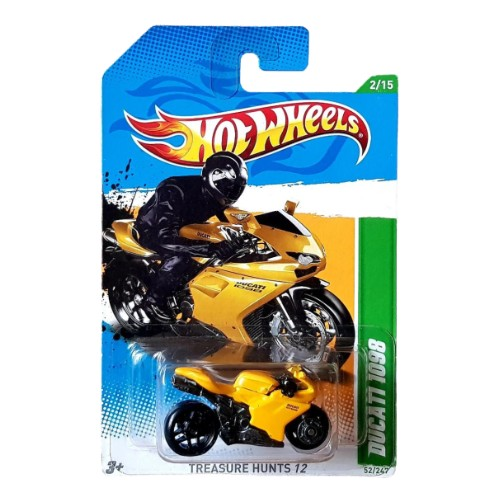 Hot Wheels Ducati 1098R Treasure Hunts 2/15 2012 long card* (Wheel Damaged)