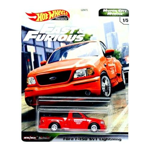 Hot Wheels Ford F150 SVT Lightning Fast and Furious MCM 1/5 2020 long card