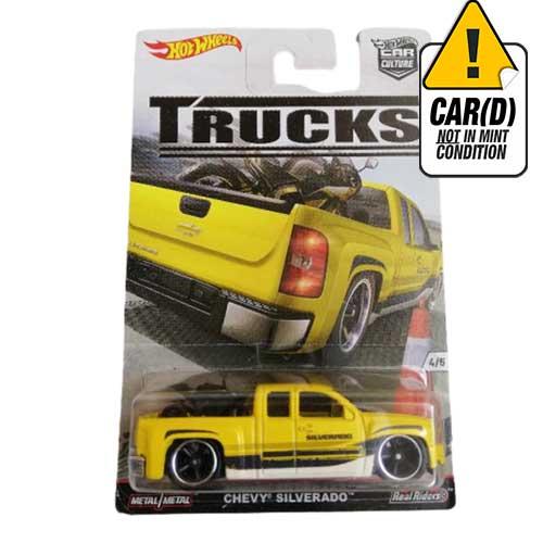 Hot Wheels Chevy Silverado Car Culture Real Riders Trucks 4/5 2016 Long card*