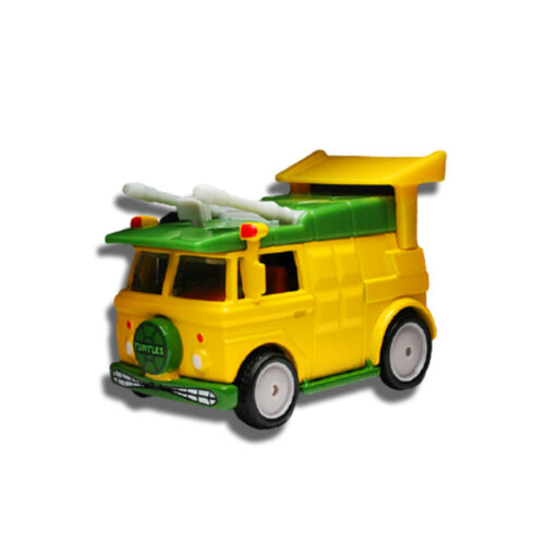 Hot Wheels Party Wagon Teenage Mutant Ninja Turtles Real Riders 2020 Long Card