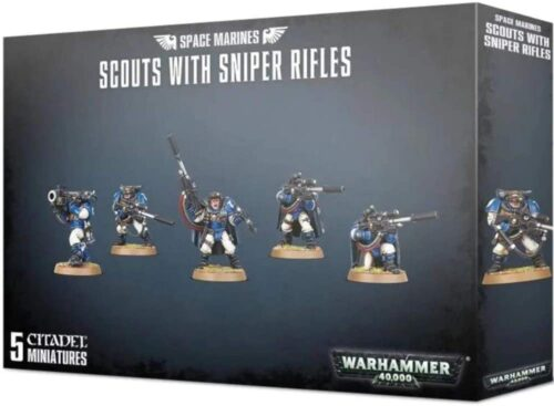 Warhammer Space Marines Scouts With Sniper Rifles *no bar code*